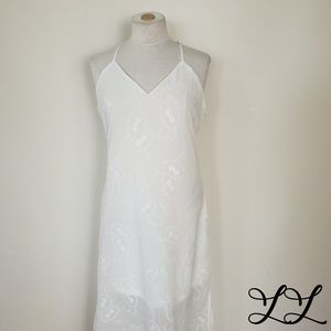 Available by Angela Fashion Dress White Maxi Racer